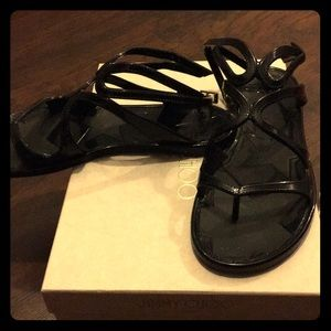 Jimmy Choo black jelly sandals size 38